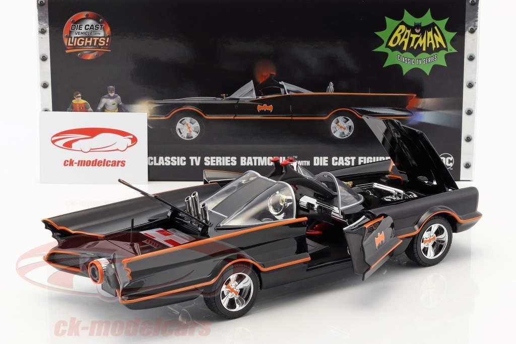 Batmobile Classic TV Series 1966 Com Batman e Robin figura 1:18 Jada Toys