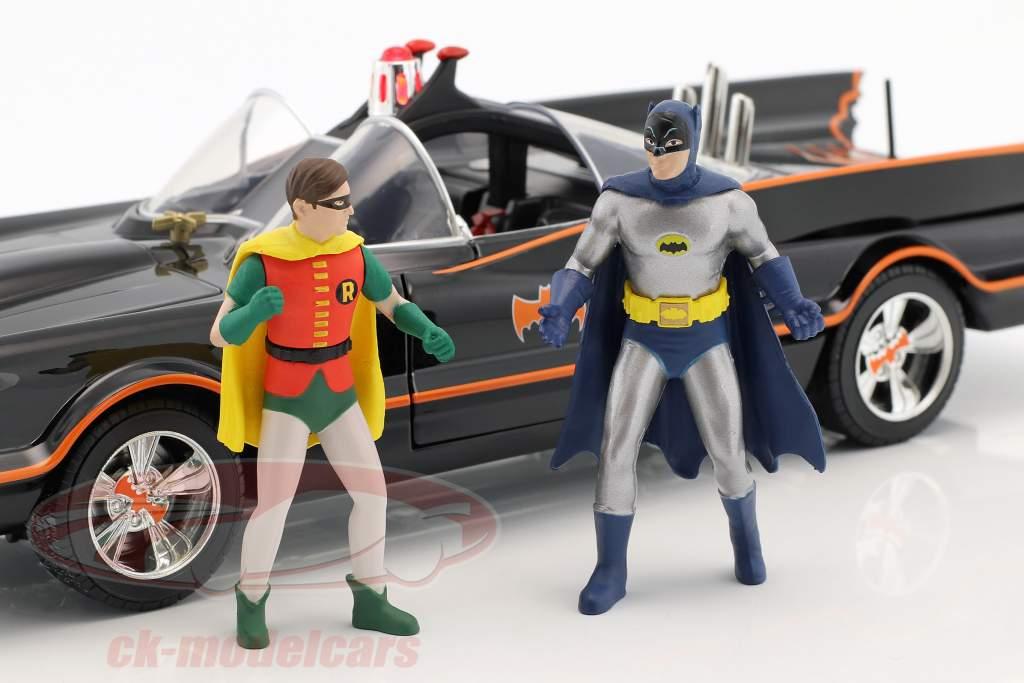 Batmobile Classic TV Series 1966 mit Batman und Robin Figur 1:18 Jada Toys