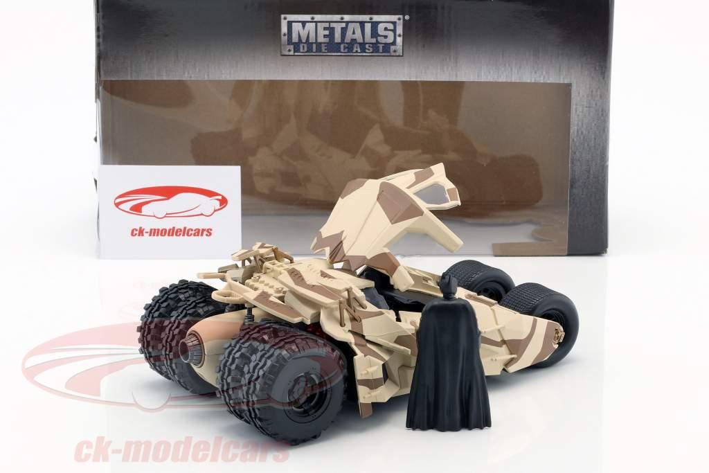Batmobile de la película The Dark Knight 2008 con Batman figura 1:24 Jada Toys
