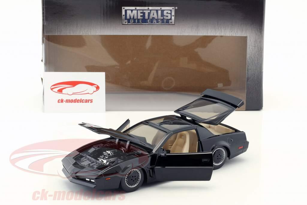 Pontiac Firebird K.I.T.T. série de TV Knight Rider (1982-1986) preto 1:24 Jada Toys