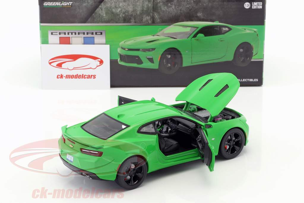 Chevrolet Camaro SS Opførselsår 2017 krypton grøn 1:24 Greenlight