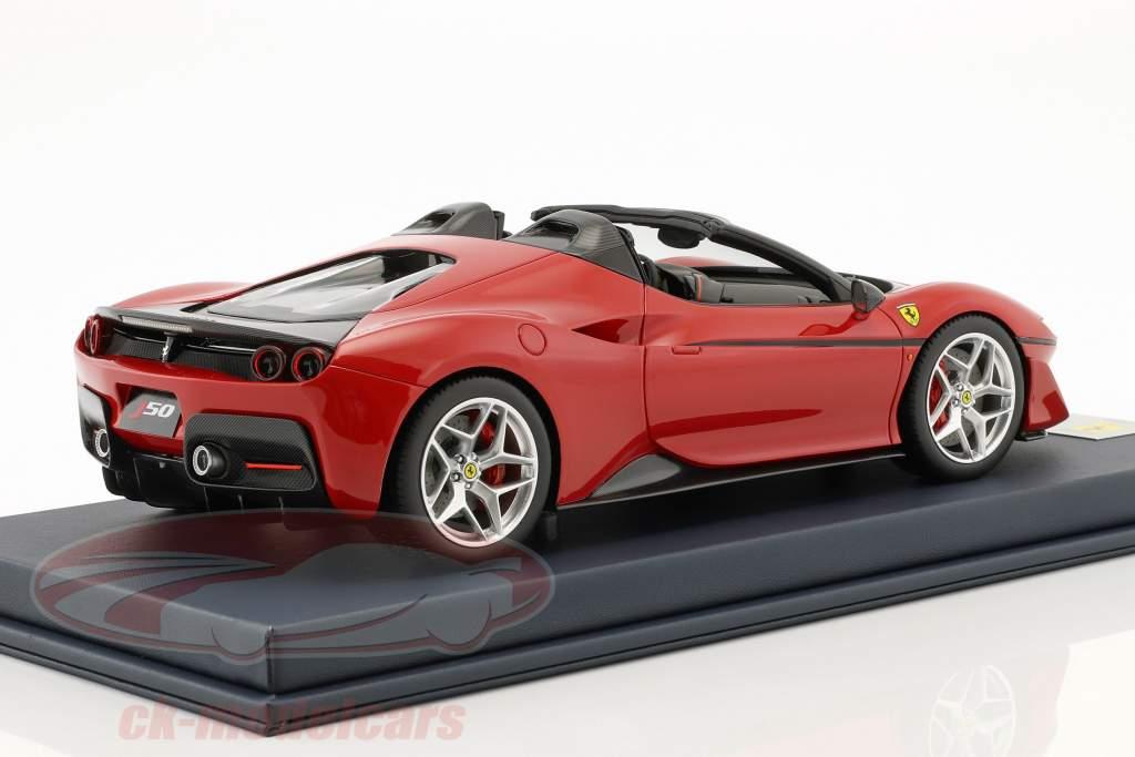 Ferrari J50 Roadster Opførselsår 2016 rosso tristrato med udstillingsvindue 1:18 LookSmart