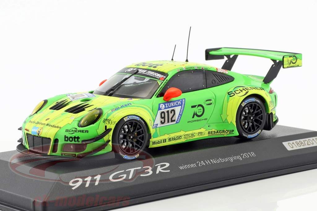 Porsche 911 (991) GT3 R #912 Vinder 24h Nürburgring 2018 Manthey Racing 1:43 Minichamps