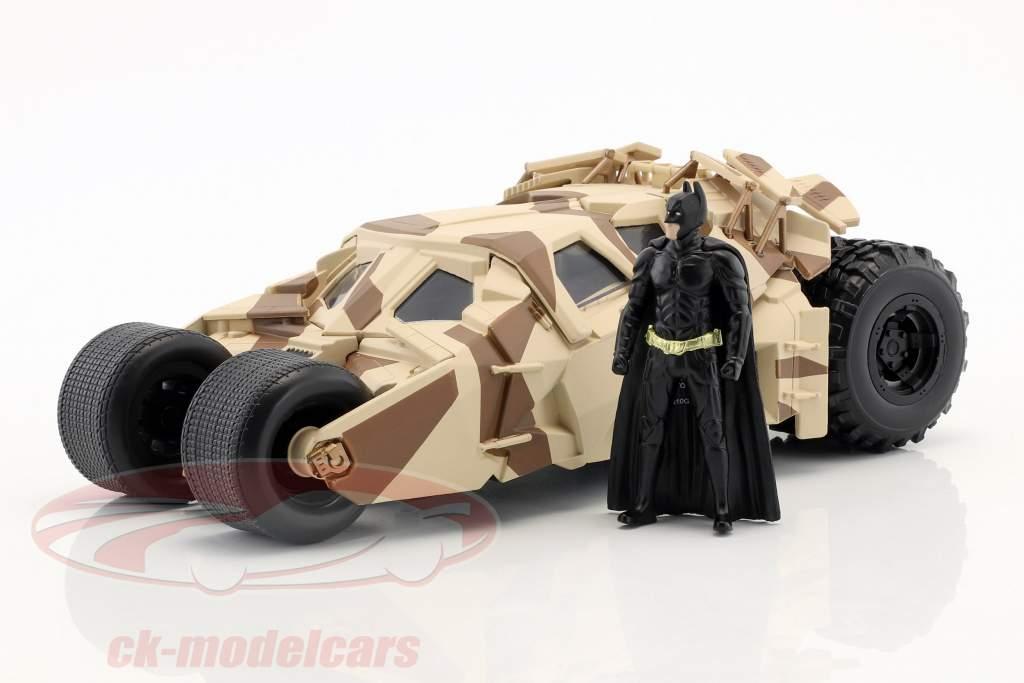 Batmobile da il film The Dark Knight 2008 con Batman cifra 1:24 Jada Toys