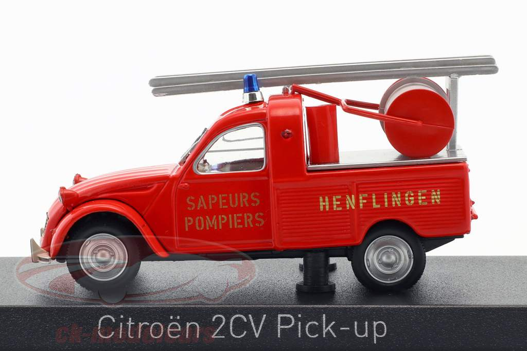 Citroen 2CV Pick-Up fire department with ladder year 1963 red 1:43 Norev