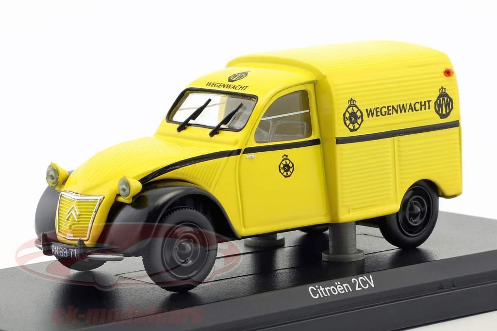Citroen 2CV AZU Wegenwacht Baujahr 1959 gelb 1:43 Norev