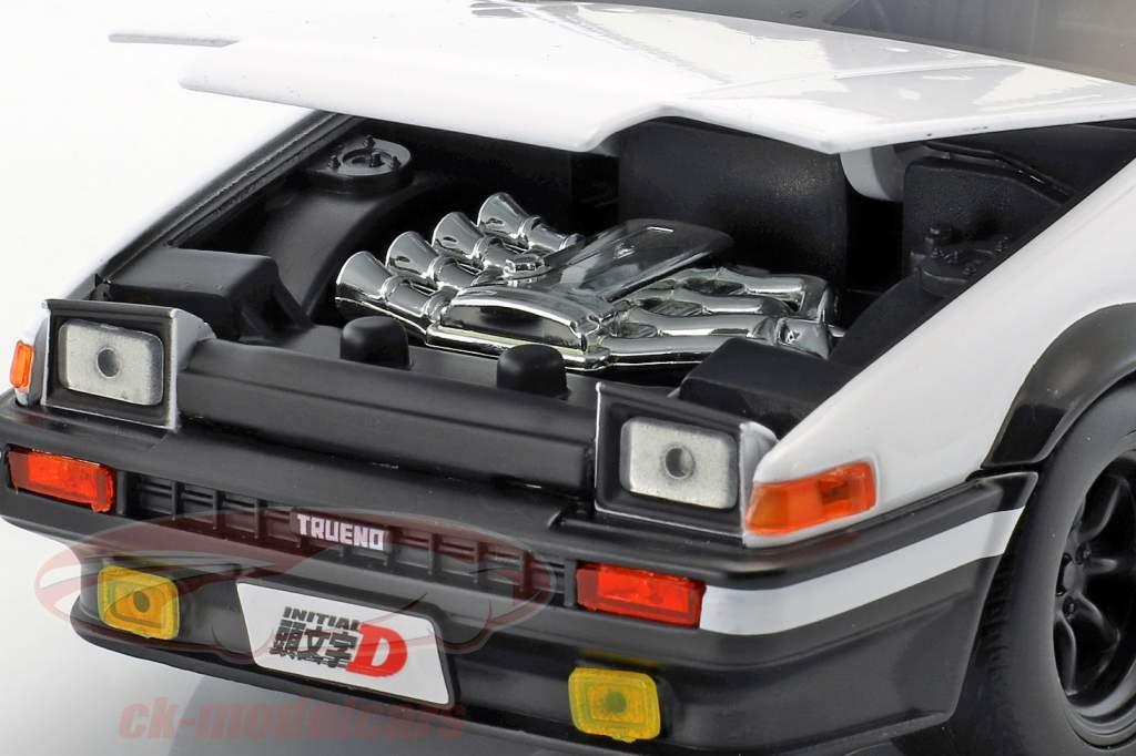 Toyota Trueno (AE86) from Manga TV series Initial D with figure Takumi 1:24 Jada Toys