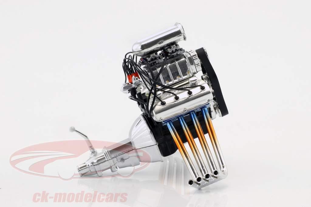Blown Hemi engine and transmission 1:18 GMP