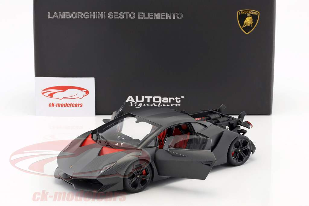 Lamborghini Sesto Elemento Ano 2010 carboxílico cinza 1:18 AUTOart