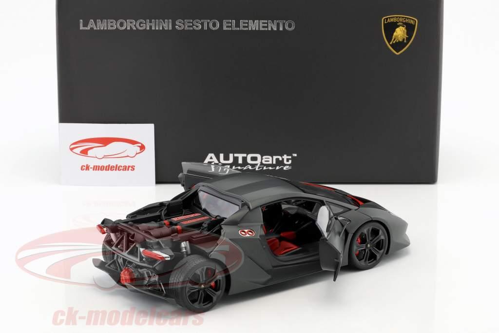 Lamborghini Sesto Elemento År 2010 carboxylsyre grå 1:18 AUTOart