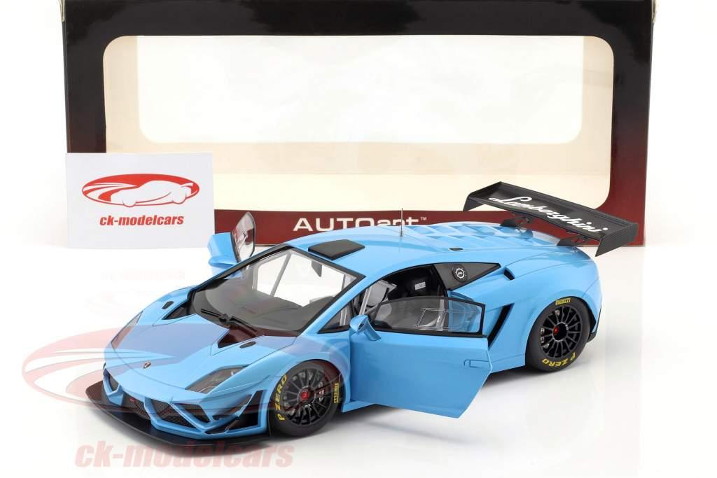 Lamborghini Gallardo GT3 FL2 år 2013 blå 1:18 AUTOart