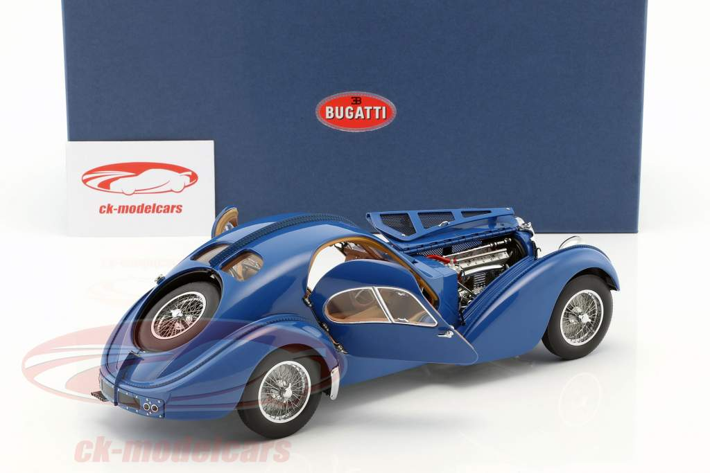 Bugatti 57S Atlantic costruito nel 1938 blue 1:18 AUTOart