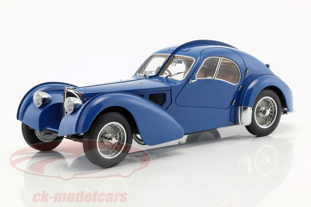 Bugatti 57S Atlantic Baujahr 1938 blau 1:18 AUTOart