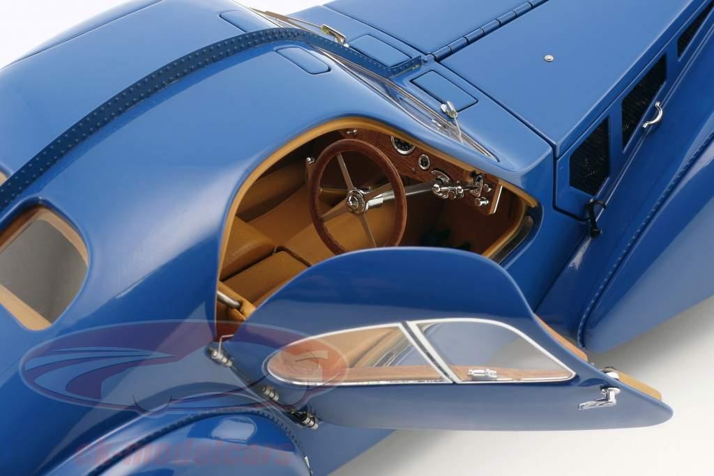 Bugatti 57S Atlântico construída em 1938 azul 1:18 AUTOart