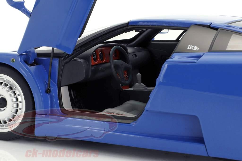 Bugatti EB110 GT Jaar 1991 blauw 1:18 AUTOart