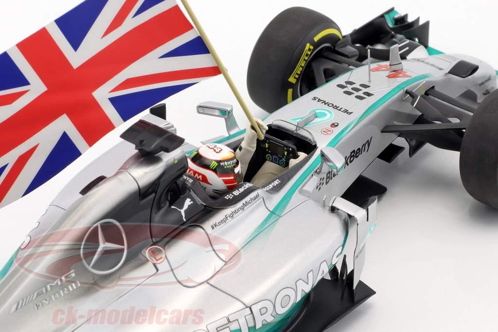L. Hamilton Mercedes F1 W05 #44 World Champion Abu Dhabi F1 2014 1:18 Minichamps