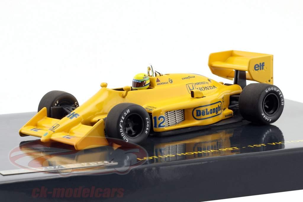 senna lotus honda 99t 1st victory gp Mónaco fórmula 1 1987 1:43 Minichamps A