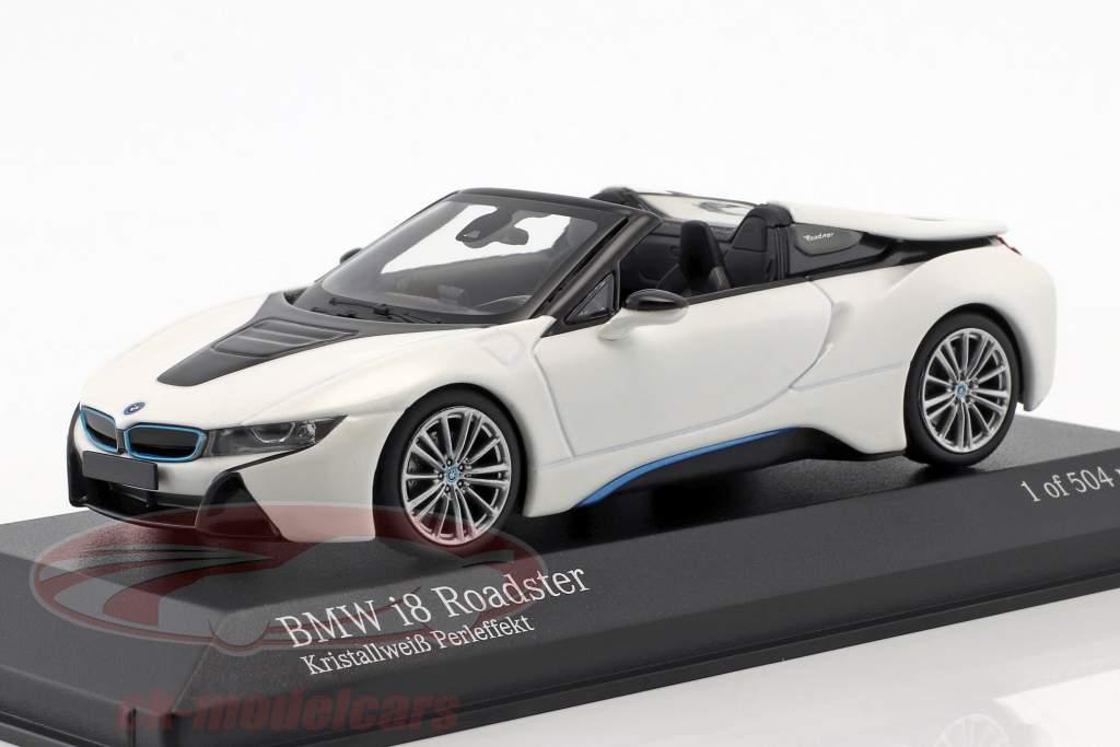 BMW I8 Roadster (I15) anno di costruzione 2018 bianco metallico 1:43 Minichamps