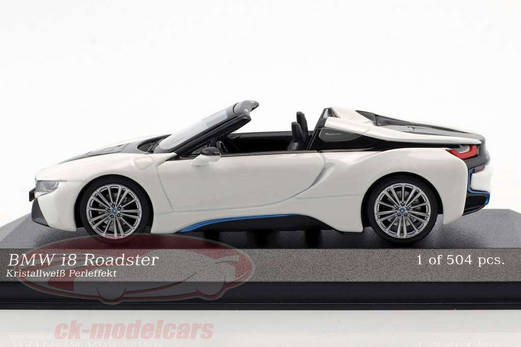 BMW I8 Roadster (I15) Baujahr 2018 weiß metallic 1:43 Minichamps