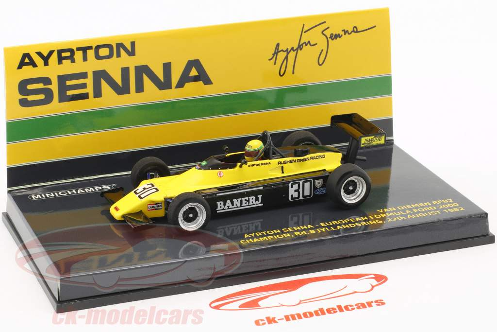 A. Senna Van Diemen RF82 #30 Europa formule Ford 2000 kampioen 1982 1:43 Minichamps