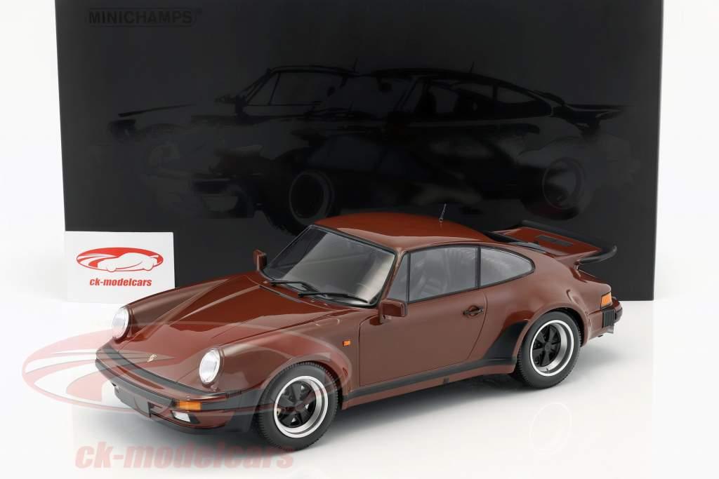 Porsche 911 (930) Turbo Bouwjaar 1977 bruin 1:12 Minichamps