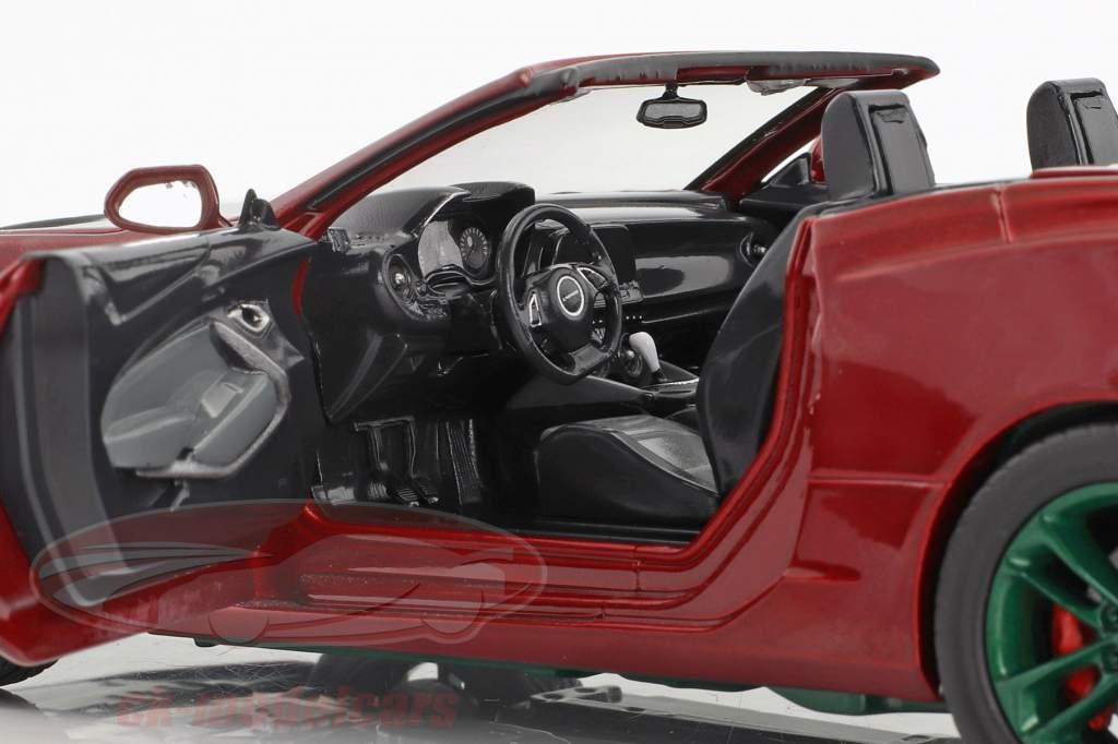 Chevrolet Camaro SS Cabriolet Baujahr 2017 dunkelrot metallic / grün 1:24 Greenlight