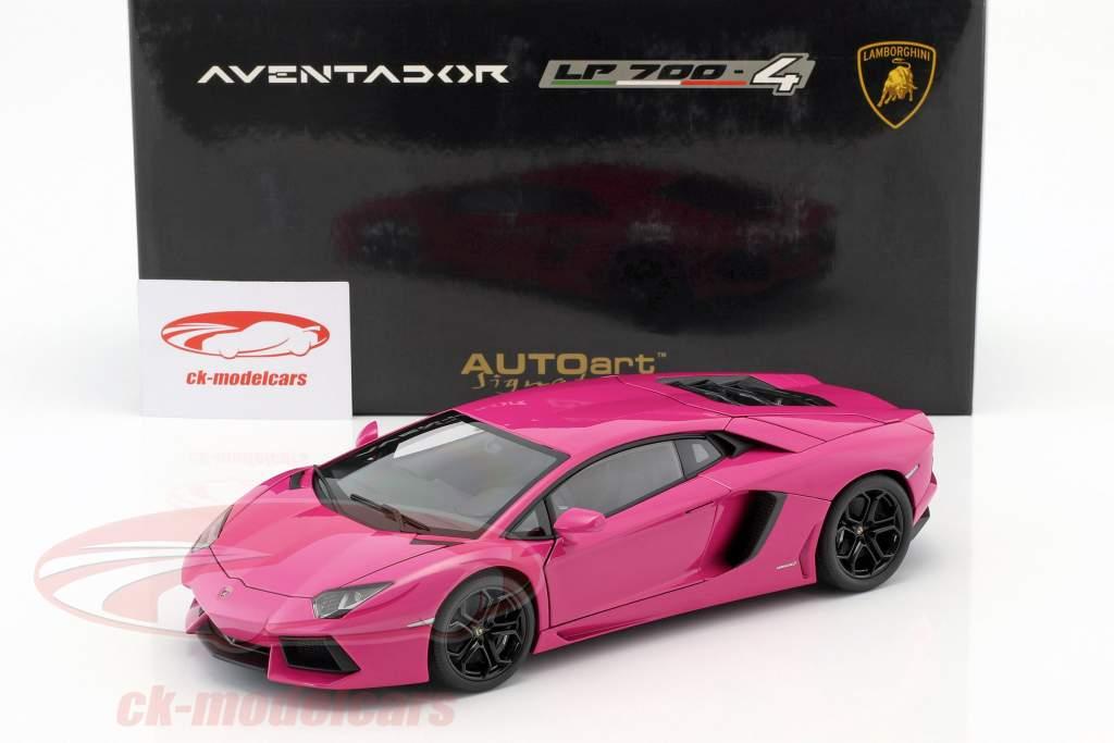 Autoart 1 18 Lamborghini Aventador Lp700 4 Year 2011 Pink 74660