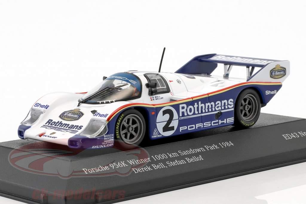 Porsche 956K #2 vincitore 1000km Sandown Park 1984 Bellof, Bell 1:43 CMR