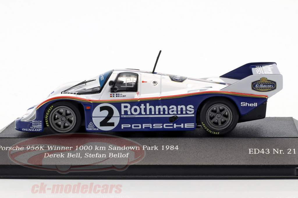 Porsche 956K #2 Winner 1000km Sandown Park 1984 Bellof, Bell 1:43 CMR