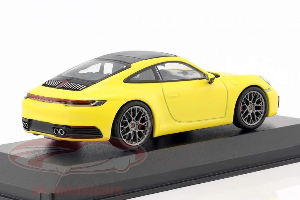 Porsche 911 (992) Carrera 4S coupe Opførselsår 2019 racing gul 1:43 Minichamps