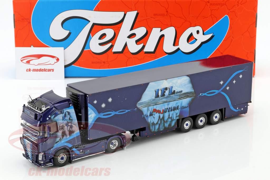 Volvo FH GL XL lastbil KüKoSzg IFL Köln blå 1:50 Tekno