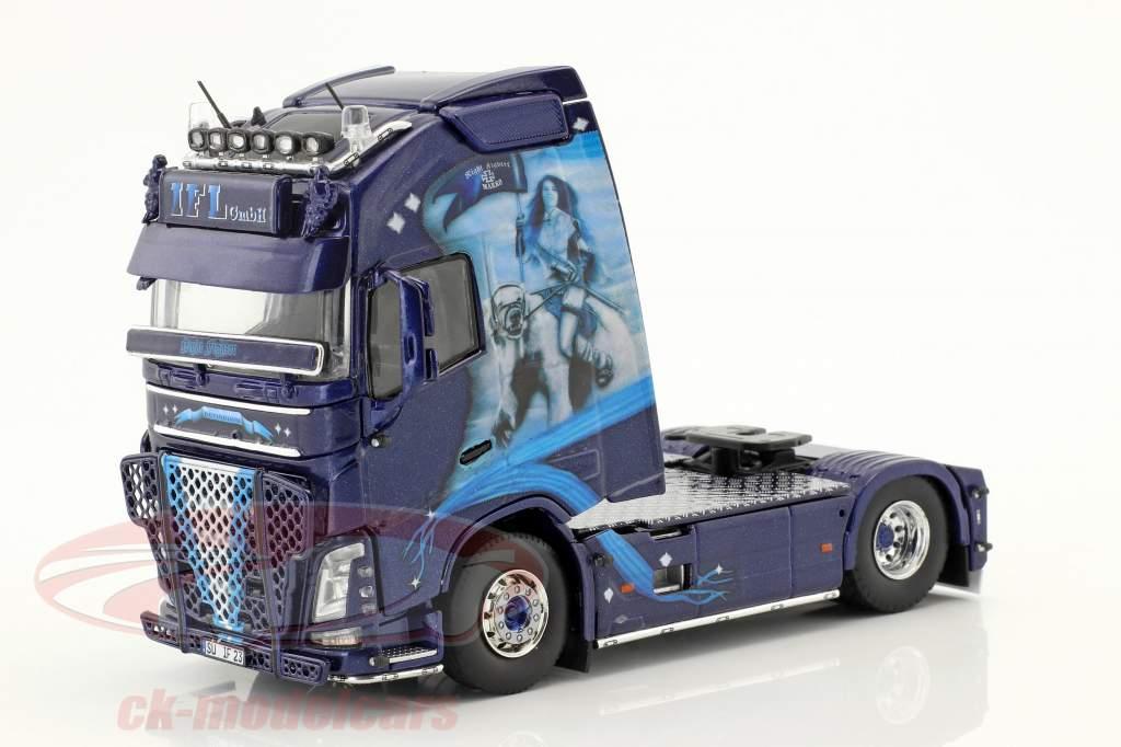 Volvo FH GL XL Truck KüKoSzg IFL Köln blue 1:50 Tekno