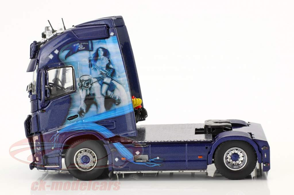 Volvo FH GL XL caminhão KüKoSzg IFL Köln azul 1:50 Tekno