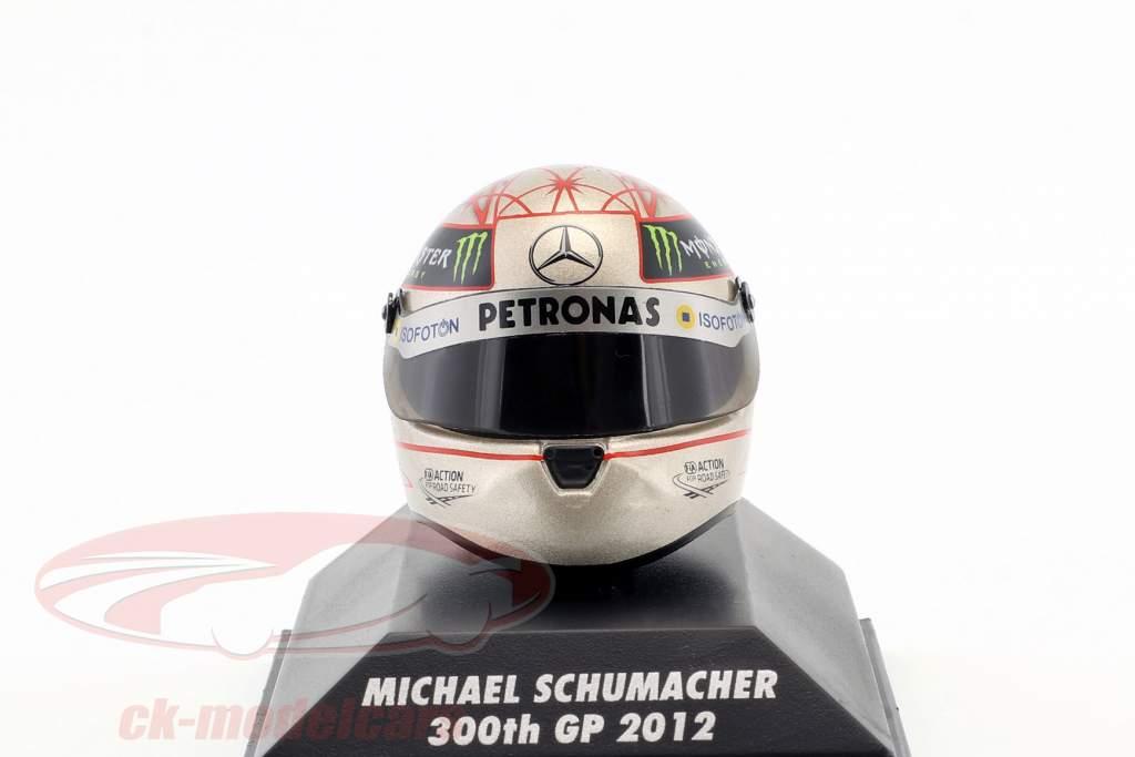 M. Schumacher Mercedes F1 W03 300 GP Estância termal Fórmula 1 2012 Capacete 1:8 Schuberth