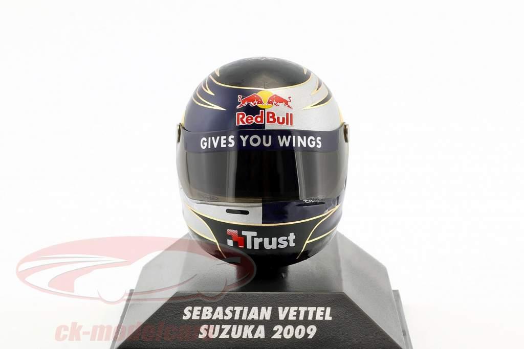 S. Vettel Red Bull GP Suzuka formula 1 2009 helmet 1:8 Minichamps