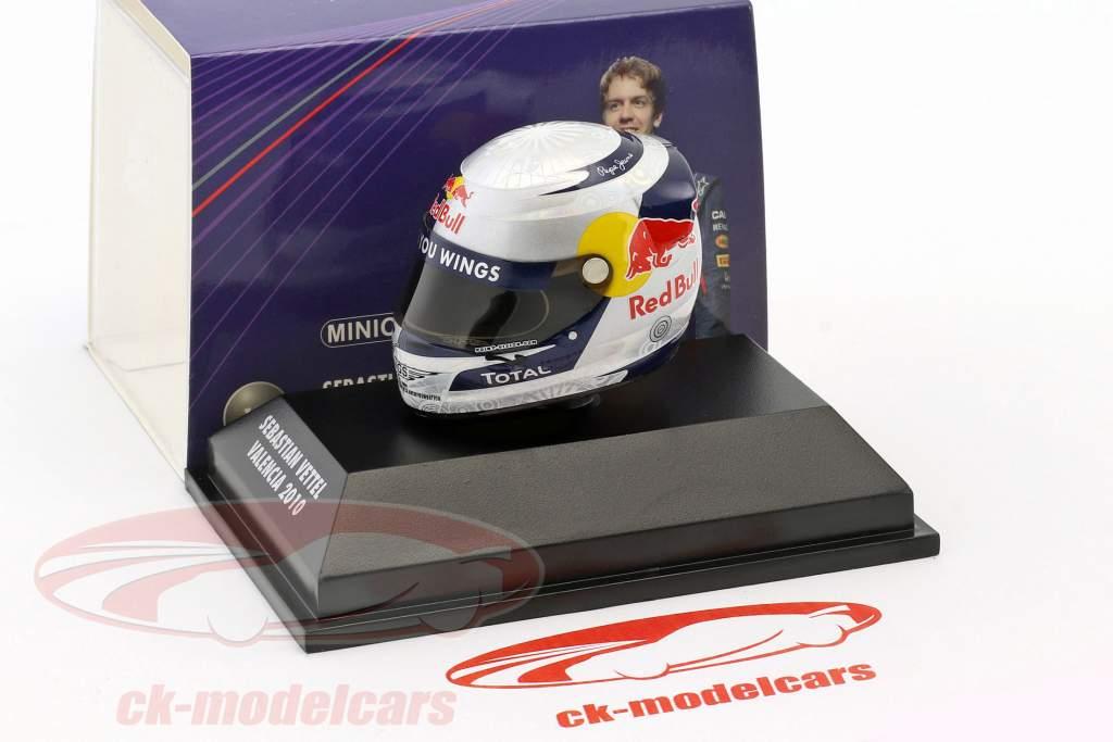 S. Vettel Red Bull GP Valencia di Formula 1 Campione del Mondo 2010 Helmet 1: 8 Minichamps