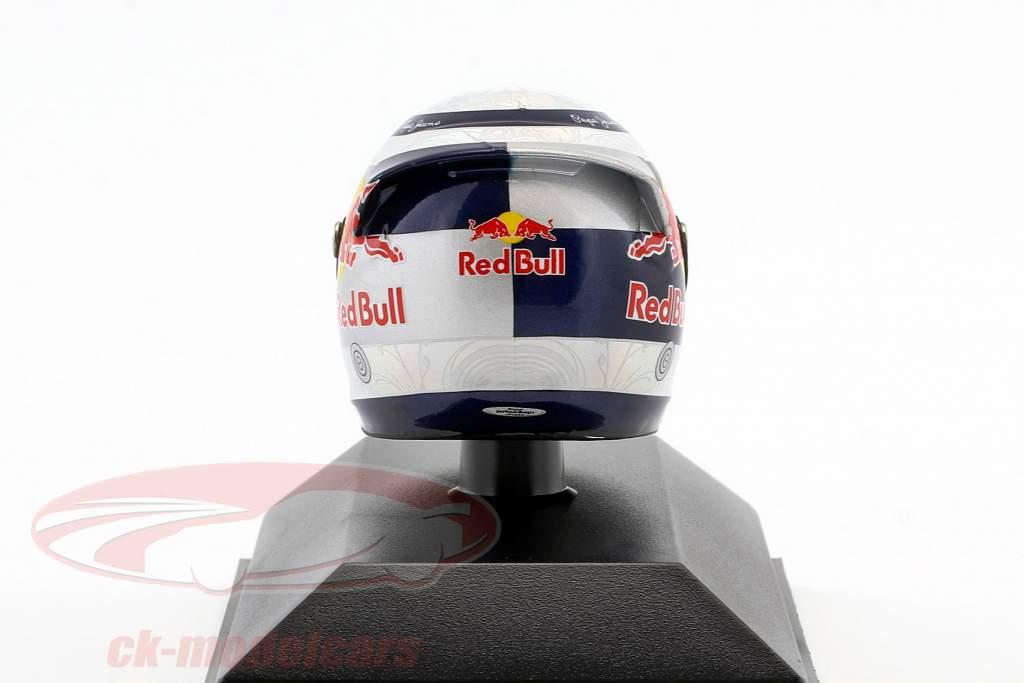 S. Vettel Red Bull GP de Valencia de Fórmula 1 Campeón del Mundo 2010 Casco 1: 8 Minichamps