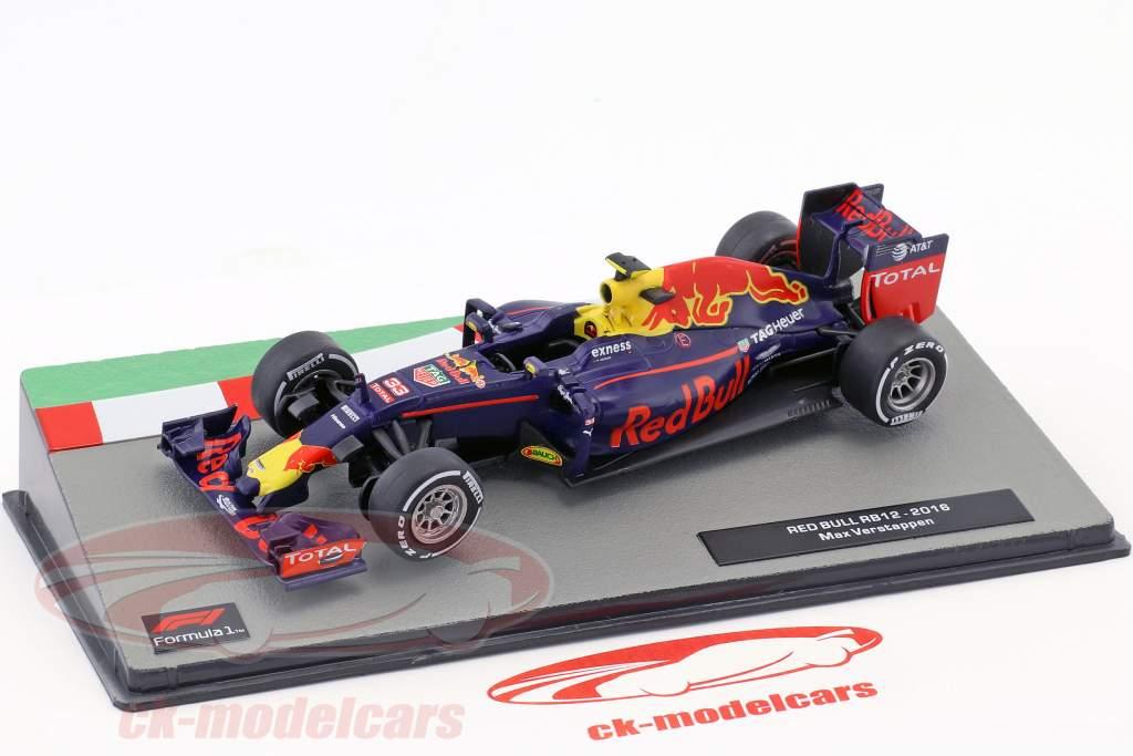 Max Verstappen Red Bull RB12 fórmula 1 2016 1:43 Altaya