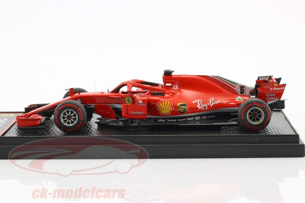 Sebastian Vettel Ferrari SF71H #5 Vinder Canada GP formel 1 2018 1:43 BBR