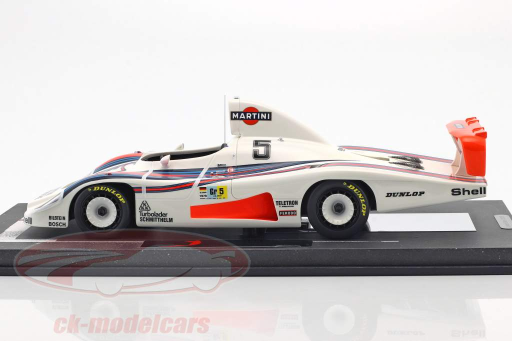 Porsche 936/78 Turbo #5 24h LeMans 1978 Martini Racing Team met vitrine 1:18 BBR