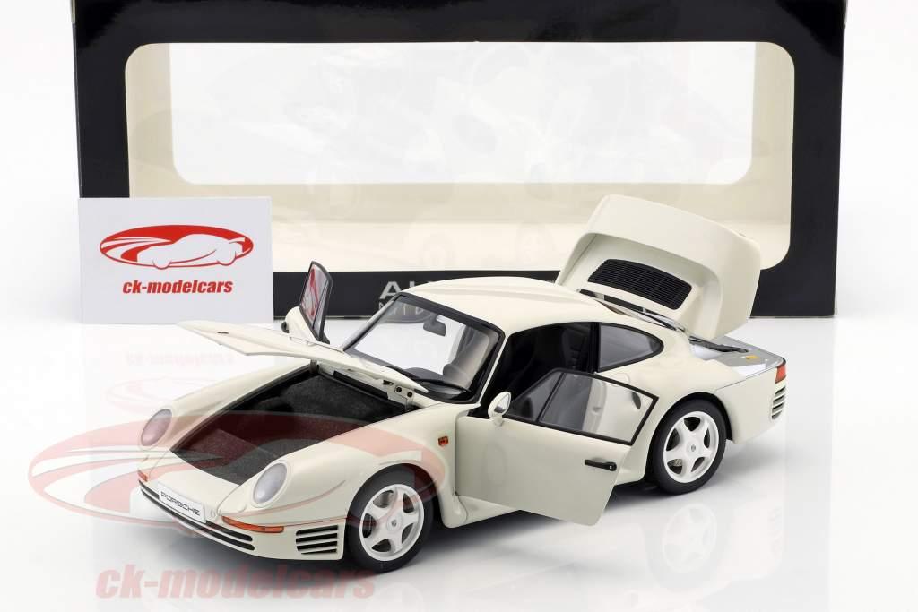 PORSCHE 959 WHITE 1:18 DIECAST MODEL CAR BY AUTOART 78083