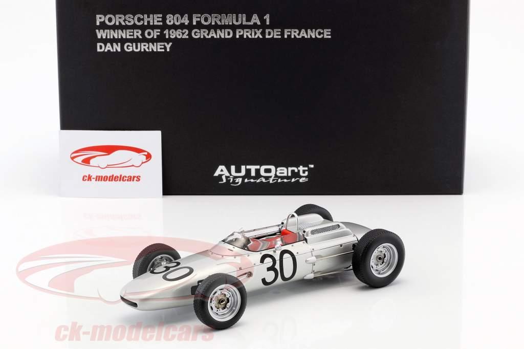 Dan Gurney Porsche 804 #30 Winner GP Frankreich Formel 1 1962 1:18 AUTOart