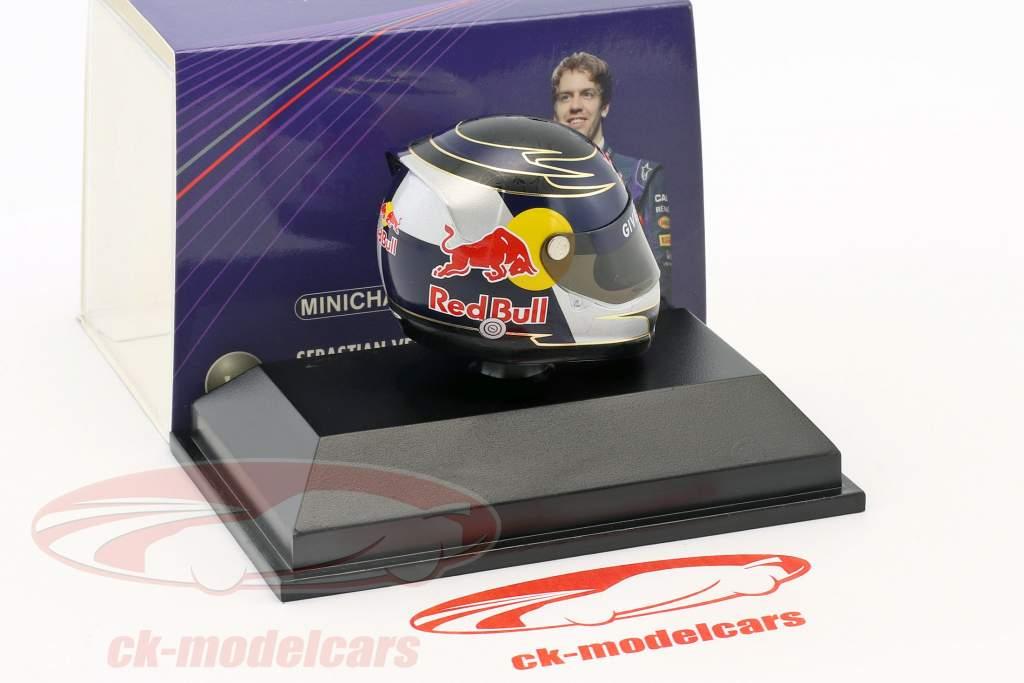S. Vettel Red Bull GP Silverstone Formel 1 2009 Hjelm 1: 8 Minichamps