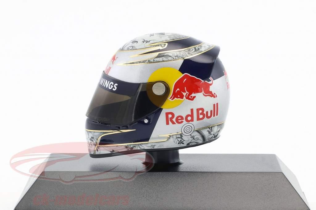 S. Vettel Red Bull GP Shanghai formula 1 2009 helmet 1:8 Minichamps