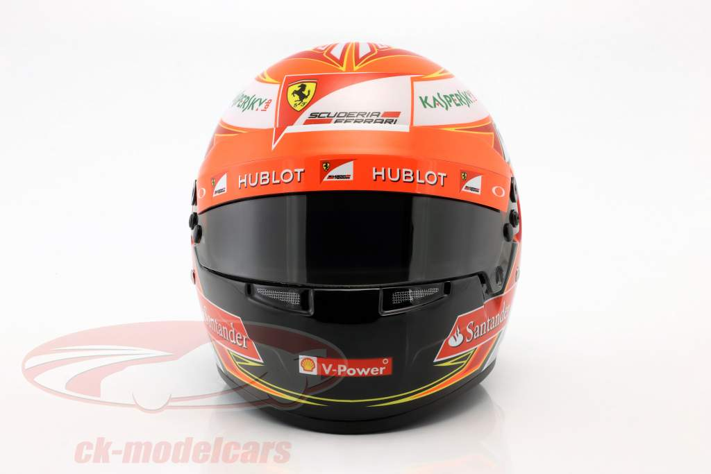 Kimi Räikkönen Ferrari F14T #7 formula 1 2014 helmet 1:2 Bell