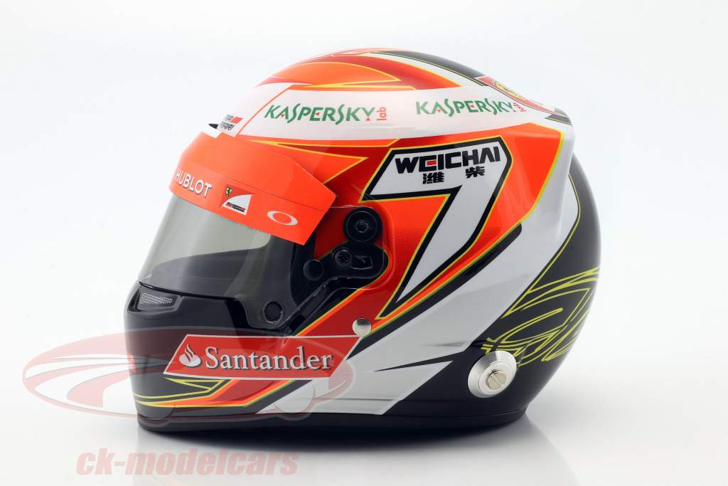 Kimi Räikkönen Ferrari F14T #7 fórmula 1 2014 casco 1:2 Bell