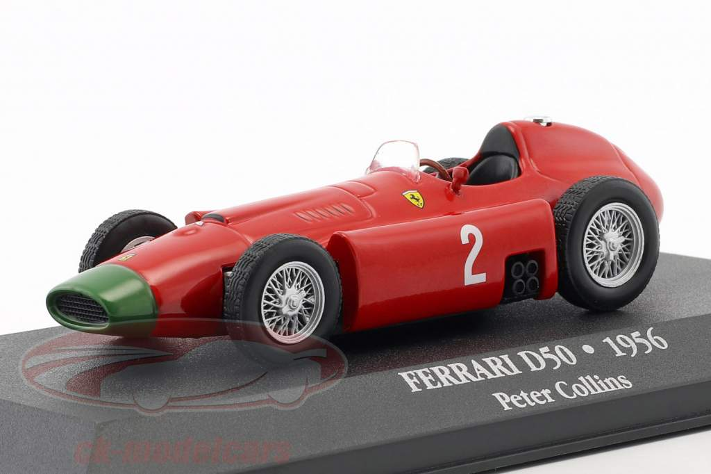 Peter Collins Ferrari D50 #2 formule 1 1956 1:43 Atlas