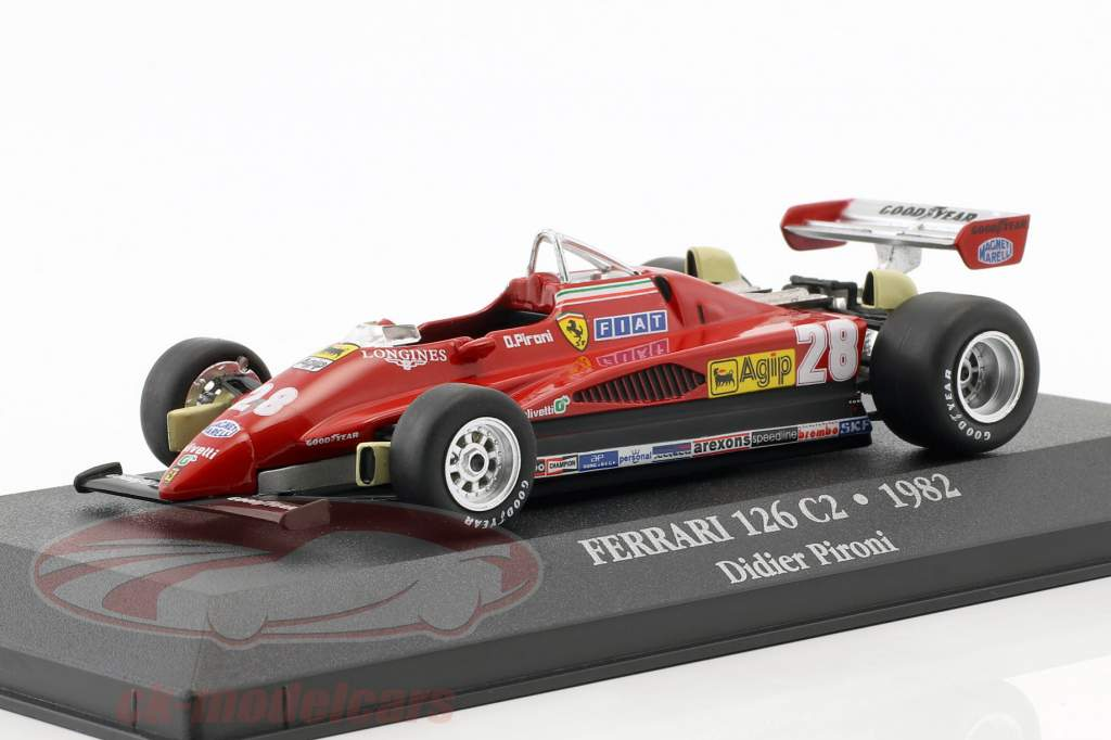 Didier Pironi Ferrari 126 C2 #28 formel 1 1982 1:43 Atlas