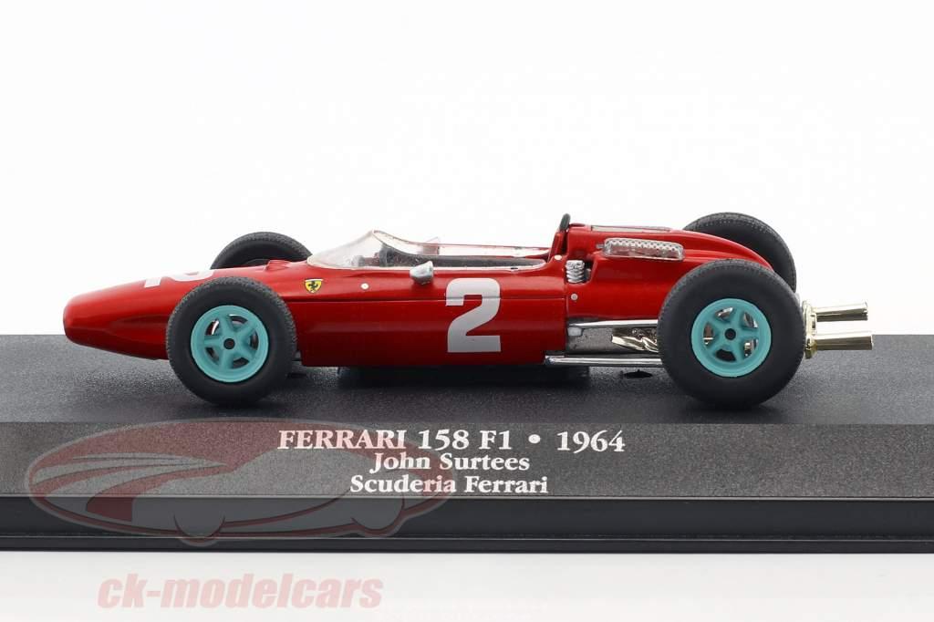 John Surtees Ferrari 158 F1 #2 campeão do mundo fórmula 1 1964 1:43 Atlas