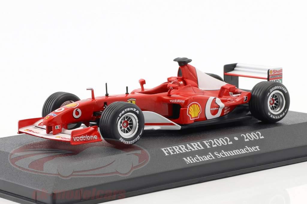 Michael Schumacher Ferrari F2002 #1 campeão do mundo fórmula 1 2002 1:43 Atlas